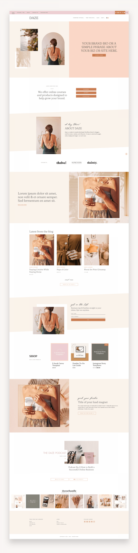 Daze Coaching WordPress Theme