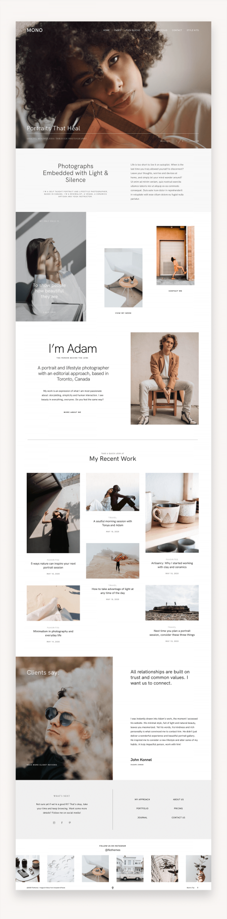 Mono Photography WordPress Theme