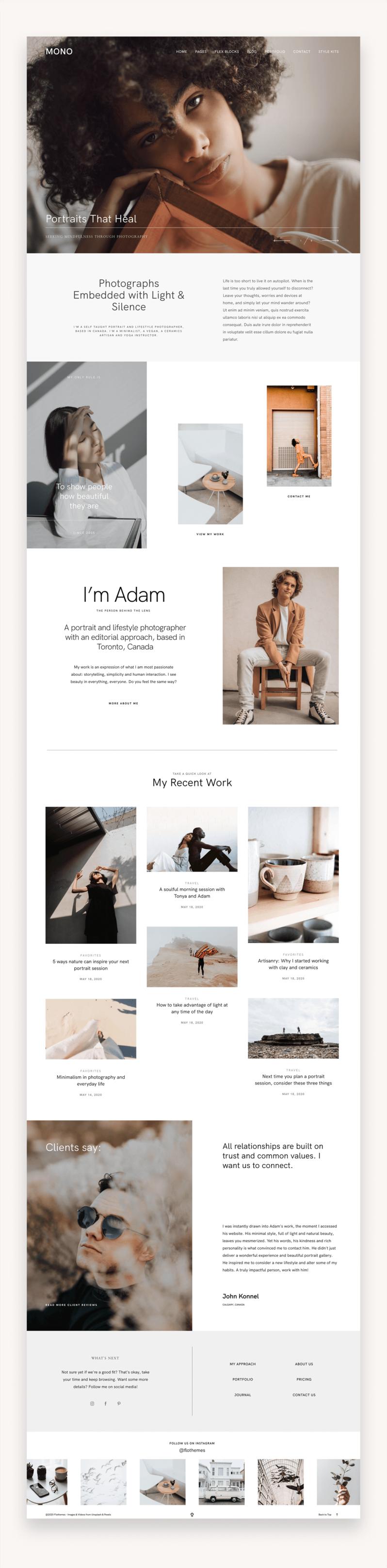 Mono Photography WordPress Theme